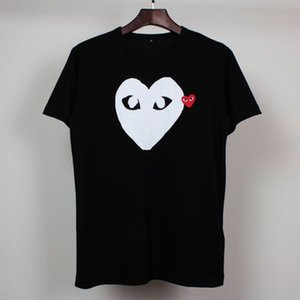 Yaz Yeni Trend Marka Aşk Katı Renk Erkek Short Sleeve Erkek ve Kadın Çift Casual tişört Moda Klasik tişört