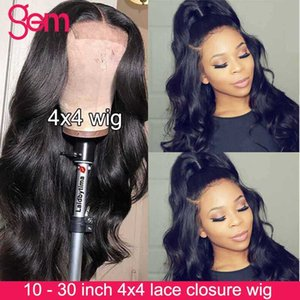Body Wave Wig 4x4 Lace Closure Wig Lace Front Human Hair Wigs For Women Pre Plucked Brazilian GEM Remy 30 Inch Closure Wigs