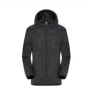 2019 SICAK Yaz Kadın Erkek Marka Yağmur Ceket Palto Açık Casual Kapüşonlular Windproof ve su geçirmez Güneş kremi Yüz Coats S-3XL