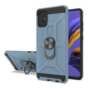 Sostenedor de la caja de servicio pesado resistente anillo de la armadura del montaje del coche para Samsung Galaxy A01 A21 A10 A80 M30S A20S A90 cubierta w / pata de cabra