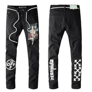 2020 bon marché hommes jeans déchirés motard jeans motards slim fit pour jeans de créateur de mode pour hommes hommes de hip-hop de bonne qualité - 08