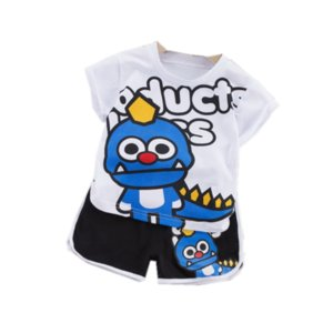 New Summer Baby Girl Clothes Children Boys Cotton Cartoon T Shirt Shorts 2Pcs sets Toddler Active Costume Infant Kids Tracksuits