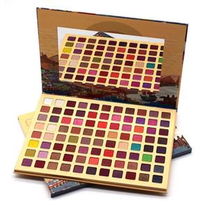 88 colores de sombra de ojos paleta de colores mate del reflejo del alto brillo Pigmento de herramientas camello sombra de ojos Pallete polvo cosmético