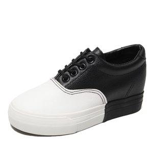 Moda Sneaker Chunky Ayakkabı Kadınlar takozları Sneakers Sapatos Feminino Plataforma Bayan Eğitmenler Bayan Deri Sneakers Damen Shue