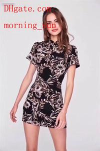 뜨거운 판매 2019 브랜드 여름 드레스 인쇄 슬림 중국어 Cheongsam 치마 여성 의류 고품질 캐주얼 여름 드레스 여성 jumpsuits