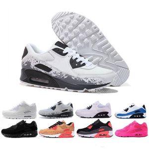Nike Air Max 90 Flyknit Laufschuhe Be True Mixtape Triple Black White Men Frauen Klassisch Gelb Rot Sport Trainer Kissen Surface36-45