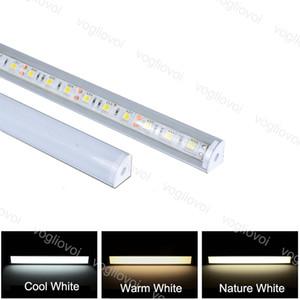 Lampada a barre LED DC12V SMD5050 12W Strip 1M 45 Angolo con coperchio Multicolour Trough Lampada dura per esposizione DHL DHL
