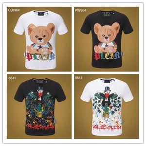 2019 New Summer Cotton tshirt Floral Snake Print fashion Short Sleeve t shirt Men Brand T-shirt Men Luxury Homme #99307