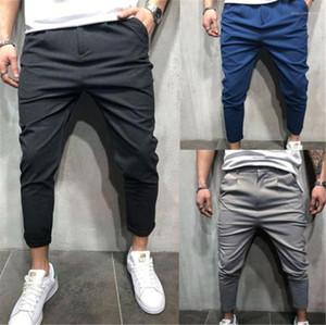 Pantaloni dritti allentamenti Barrel pantaloni pantaloni Midweight piatti pantaloni da uomo di modo lungo Abbigliamento Uomo Casual Designer