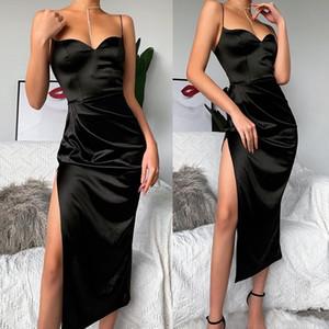 섹시한 여자 여름 드레스 이브닝 칵테일 파티 분할 드레스 sundress에 긴