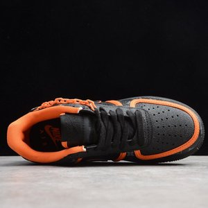 new latest casual shoe Custom Low Time Out Air One Utility Orange Black Men Running Shoes Forces Sneakers Trainers 1s Sports Skate shoes88