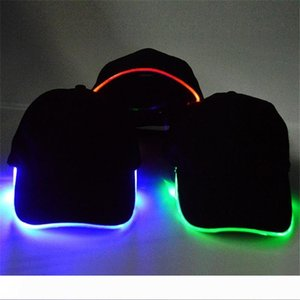 lotto Adatti Light Up LED Cappello da baseball Glow In Dark partito protezione 10pcs di trasporto