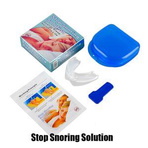 Nouvelle arrivée Stop Ronflement Solution Anti ronfle Embouchure silicone souple ABS Good Night Sleeping Apnée Garde bruxisme Plateau DHL cessation Ronflement