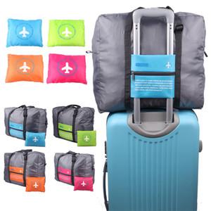 ماء نايلون للطي 46 * 34.5 سنتيمتر 4 ألوان حقائب السفر حقيبة التخزين قدرة كبيرة الطائرات عربة الأمتعة المحمولة حقائب السفر DH0492 t03