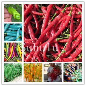 Grosses soldes! Longue Chili Pepper Bonsai plantes 500 Pcs géant épices Poivre Bonsai Graines de plantes fournitures pour le jardinage biologique d'intérêt légumes