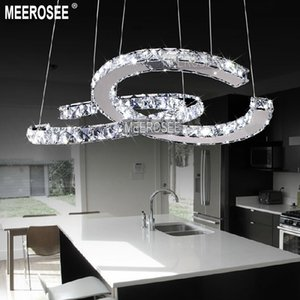 Modern LED Ring Diamond Pendant Light Fitting LED Crystal Chandelier Fixture Lustres Hanging Drop abajur Lamp For Dining room