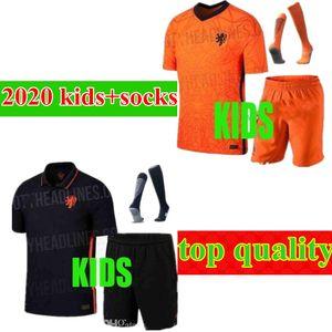 2020 European Cup Memphis kids fato de treino branco 20 21 Países Baixos home away child F.DE Jong VIRGIL camisa de futebol rapaz Camisolas desportivas