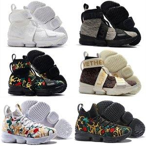 Lebron 15 XV Kings Performance Concrete Vive le Roi Enfants Hommes Chaussures de basket-ball 15s étoiles Tous les formateurs Sneakers