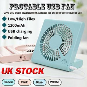 Escritorio Ventilador USB pequeño y tranquilo enfriador personal Powered USB portátil ventilador de tabla del Reino Unido