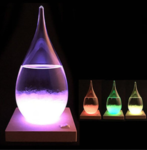 Previsão garrafa de cristal Tempo Water Drop Globos 15 * 8 centímetros desktop Drops presentes tempo vidro criativa Artesanato Artes GGA2923