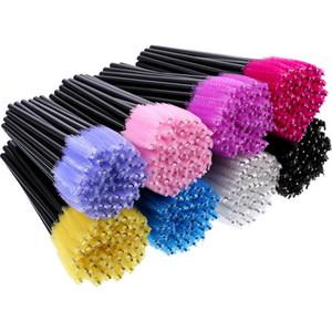 Cils Yeux Cils Maquillage Pinceau Mini Mascara Baguettes Applicateur Outil D'extension Jetable 52 Couleurs Livraison gratuite
