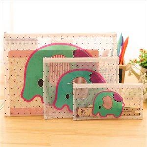1pc New Kawaii Cartoon Animal Transparent A4 File File Filter Case Desk Paper Pene Document Organizer Storage Bag Station Anyse