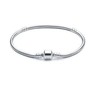 nuovo rame placcatura d'argento Braccialetti con logo Uomo Donna serpente catena borda per pandora BRACCIALI di base dei bambini del regalo B001