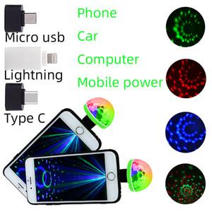 4W usb Cep telefonu mini ses kontrolü RGBW sahne ışık LED parti disko dj yanıp sönen karnaval ışık yenilik ışıkları