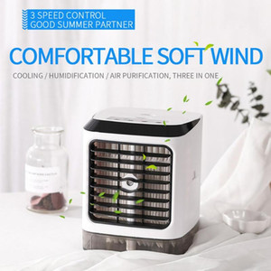 Portable Car Air Conditioner Fan Mini Table Fan Evaporative Circulator Humidifier Quiet Air Cooler For Car Office Bedroom