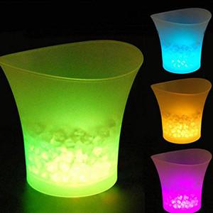 أدوات 5L LED دلو الثلج النبيذ المشروبات البيرة المشروبات دلو الثلج حزب تبريد ديكور الملاهي الليلية بار