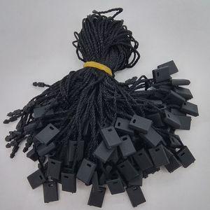 """7 """"Ropa Cuelga Etiqueta String Negro 1000 Piezas Negro Cuello Tag Cordón de nylon por Price"""
