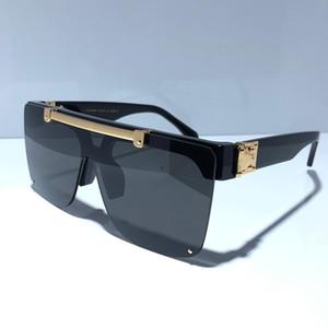 1194 MILIONÁRIO Designer óculos de sol para homens Moda quadrado simples UV400 Lens Coating Espelho Lens Cor banhado quadro Vem Com Pacote 1194E