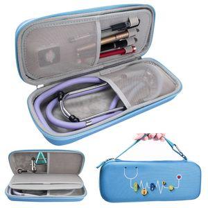New EVA Hard Shell Portable Stethoscope Storage Bag Travel Carrying Case Box for Hard Drive Pen Medical Organizer 3M Stethoscope
