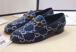 Marken-Männer Kuh Lederkleid Hochzeitsschuh Mokassin Gommino Driving Wohnungen Mode Frauen Stickerei Bee Drucken Velvet Trensen Loafers, 35-46