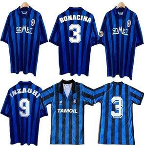 1991 Atalanta Retro version Retro version soccer jersey 96 97 Home MARTINEZ JONES ALMIRON Soccer shirt Inzaghi Bonacina Sgro football unifor
