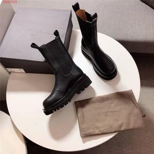 Son Ortası Buzağı Deri Tasarımcı Boots Kadınlar Siyah Bilek Boots, Kutu Boyutu 35-40 ile hakiki Deri olarak Vintage İngiltere patikler
