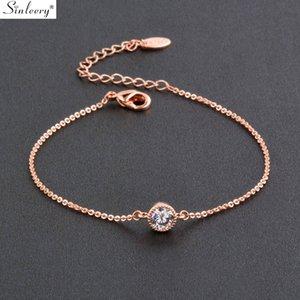 SINLEERY simple tournesol réglable Bracelet pour les femmes Couleur Argent Or Rose Inlay Cristal Belle Bijoux Bracelet SL276 SSH
