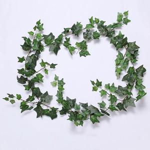 Artificial Dried Flowers 1,8 m simulazione edera singola aria condizionata tubo di riscaldamento che ripara la parete della pianta da sposa in rattan LUG3