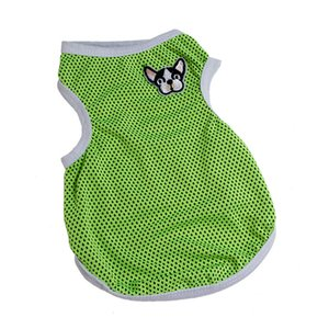Hot pet cool clothes vest hollowing breathable summer pet dog sport lots of polyester dog supplies