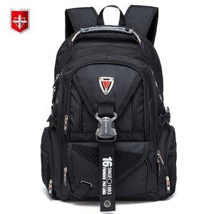 Waterproof Oxford suíço Backpack Men de 17 polegadas Laptop Mochilas Viagem Mochila Feminino Escola Vintage Bags bagpack Casual mochila T191021