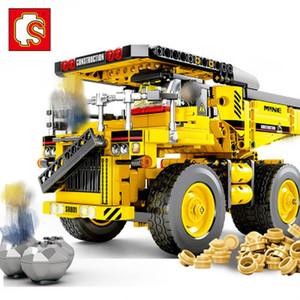 regalo SENBO Technic City Series 701.801 807PCS di ingegneria del camion auto Loader veicolo Building Blocks ragazzi mattone Giocattoli Natale