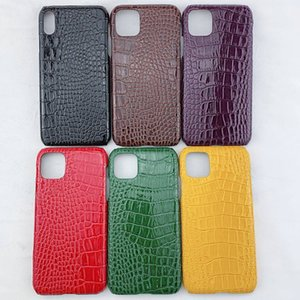 Glossy Crocodile Pattern Cell Phone Case For iphone 11 XR XS Accessories 6 Colors Fitted Case Protector