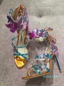 Горячая распродажа-дизайнерские сандалии Sophia Webster обувь лодыжки ремень Сексуальная Шпилька свадебные сандалии Леди гладиаторы