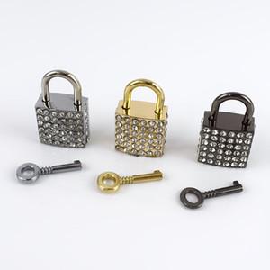 Meetee strass metallo fibbia quadrata chiusura fibbia borsa bagagli fai da te lucchetto decorativo gancio accessori hardware fai da te