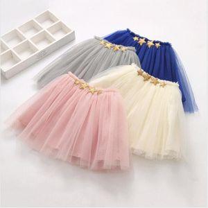 Roupas crianças meninas Tutu Mini vestidos de dança Malha Saias Pettiskirt Ballet Tulle Pettiskirt Verão Princesa Girl Dress Stagewear AYP552