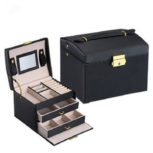 Gioielli Confezione Box Scrigno Casella per monili squisito trucco dell'organizzatore di caso di container Scatole di laurea regalo di compleanno