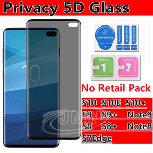 For Samsung Galaxy s10 s10e s10 plus S9 S9Plus S8 S8Plus Note8 S7Edge Privacy anti-spay Anti-glare Case Friendly 3D Tempered Glass
