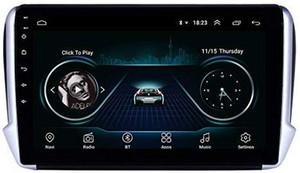 """Android 9.0 voiture Quad Core 10"""" Lecteur vidéo pour Peugeot 2008 2014-2016 centrale multimédia 2G 32G"""