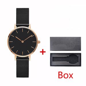 2019 40 milímetros de moda e aço 32 milímetros 36 milímetros estilo top nova correia subiu relógio de presente bonita dos homens de ouro montre relojes femme com box0025