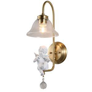 lyustra lampa Engels-Wand-Lampe Kreative Restaurant Schlafzimmer LED Nacht Aisle Wohnzimmer TV Badbeleuchtung